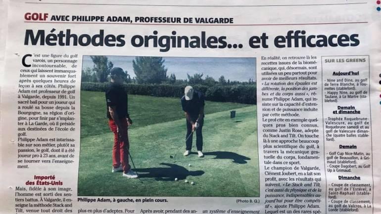 Philippe Adam, figure du golf varois