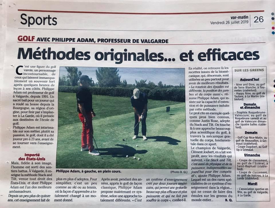 Philippe Adam, figure du golf varois