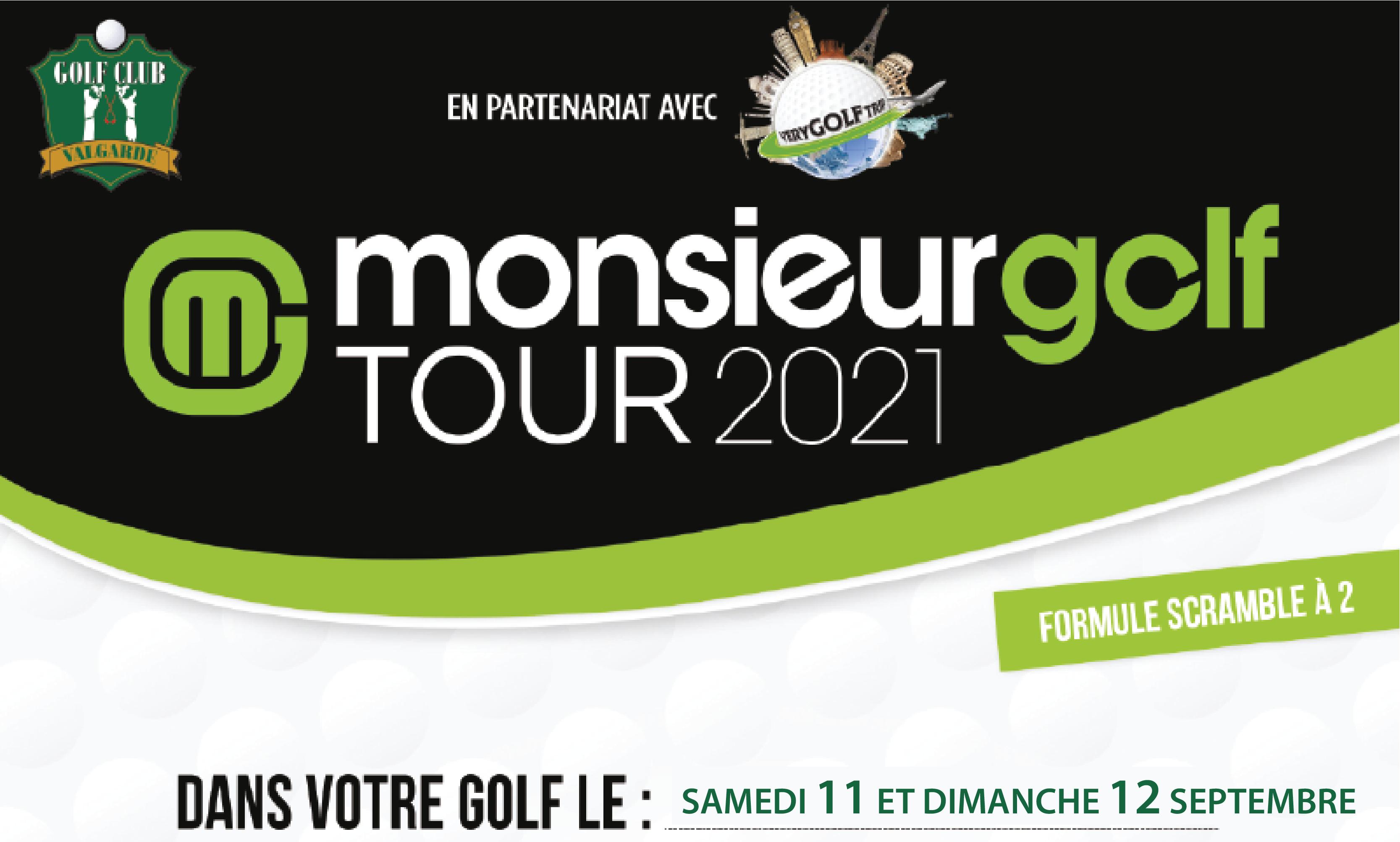 Monsieur Golf Tour 2021 – samedi 11 et dimanche 12 septembre